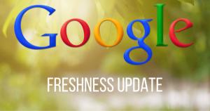 Freshness الگوریتم گوگل